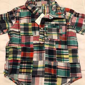 Patchwork Button Down Shirt